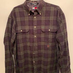Tommy Hilfiger Vtg Plaid Button up shirt large